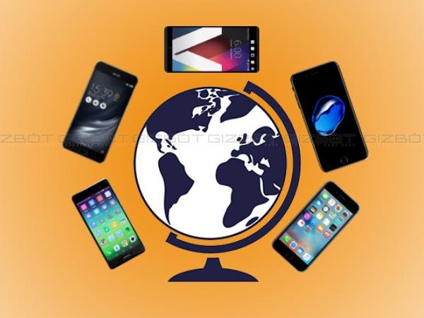 Global smartphone shipments crossed 1 bn in 2016