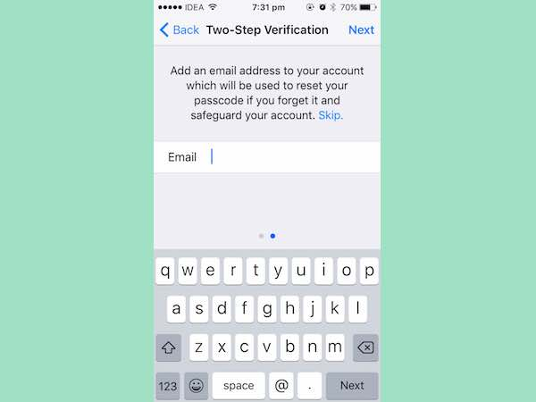How to enable two-step verification for WhatsApp on iOS