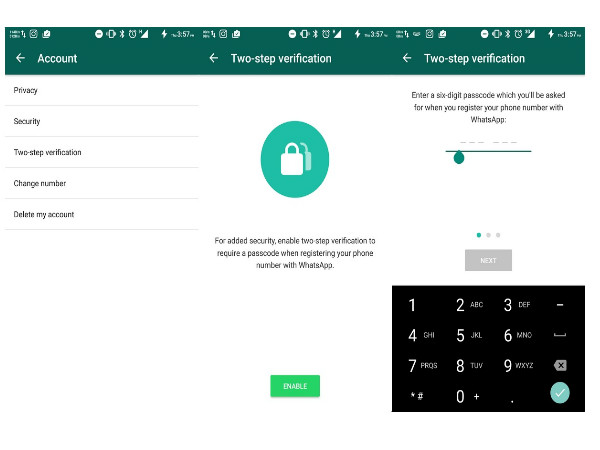 How to enable WhatsApp's two-step verification feature