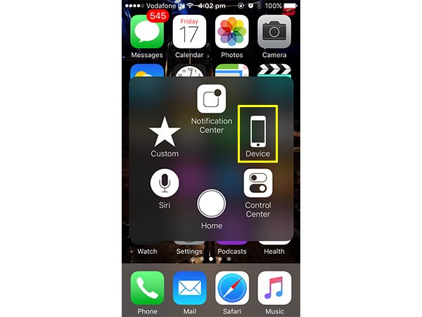 How to turn off an iPhone without using power button