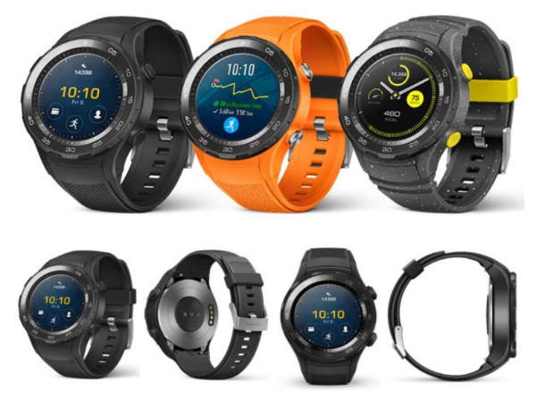 Huawei Watch 2 press renders reveal SIM card slot and sporty look