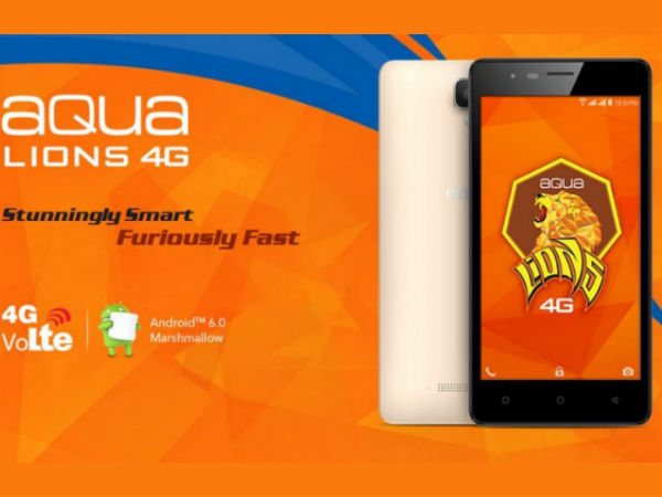 Intex Aqua Lions 4G to launch soon at Rs. 5,449