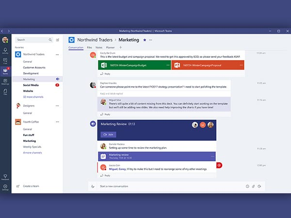 Microsoft's new chat-based workspace will keep employees engaged