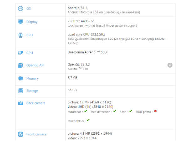 Motorola Moto Z with Android 7.1.1 Nougat spotted on Geekbench