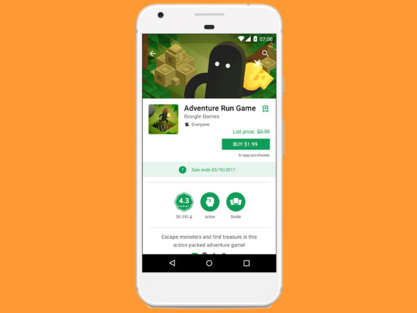 Google Play Store Will Now Show Apps Sale Pricing And High-Quality Games