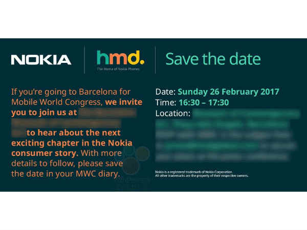 Nokia sends out MWC 2017 media invites for February 26 ...