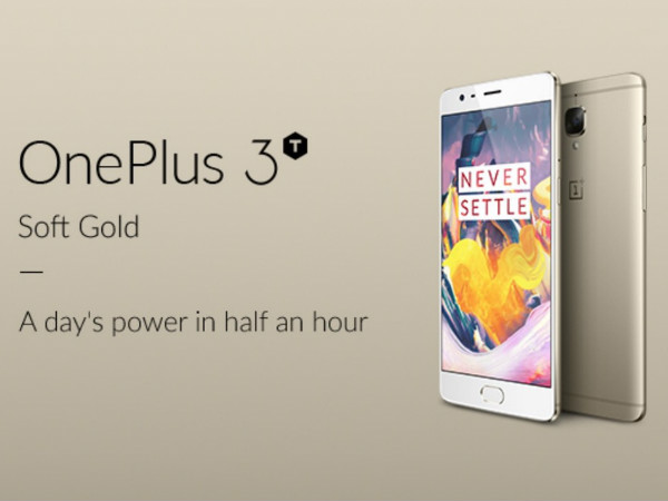 OnePlus 3T Soft Gold variant ready for immediate dispatch