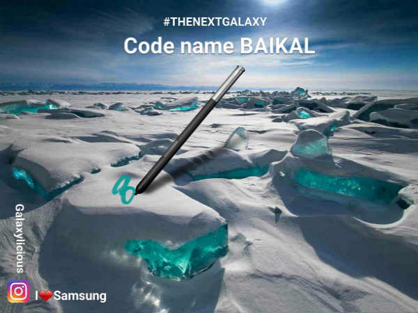 Samsung Galaxy Note 8 project to be codenamed Baikal