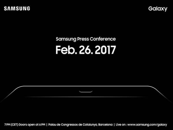 Samsung to unveil a new tablet at MWC on February 26th