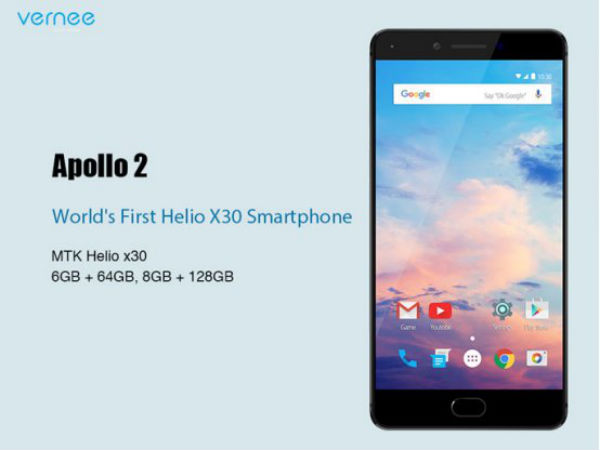 Vernee Apollo 2 with Helio X30 SoC, 8GB RAM will be launched on Feb 27