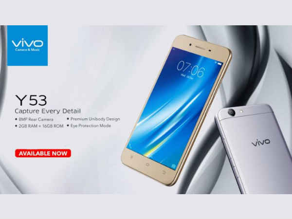 Vivo Y53 with Snapdragon 425 chip launched: specs, price, and more