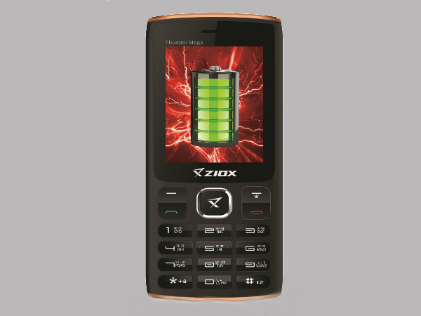 Ziox Mobiles announces feature phone with 4000 mAh battery at Rs.1,803