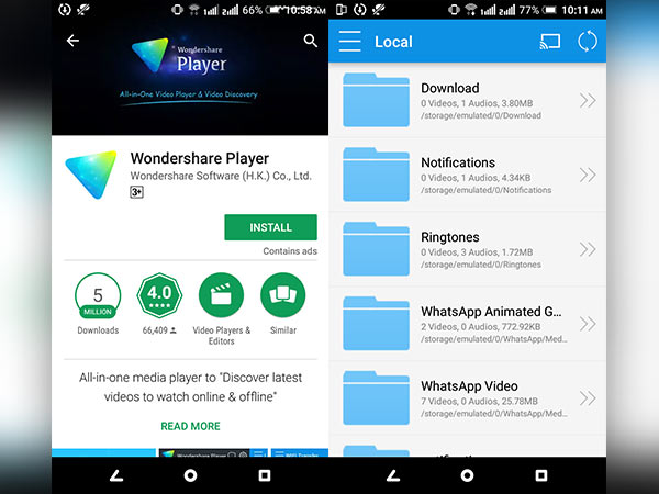 Play DVD and VCD files on your Android phone - Gizbot News