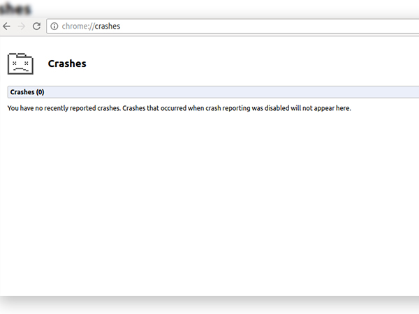 5. chrome://crashes/