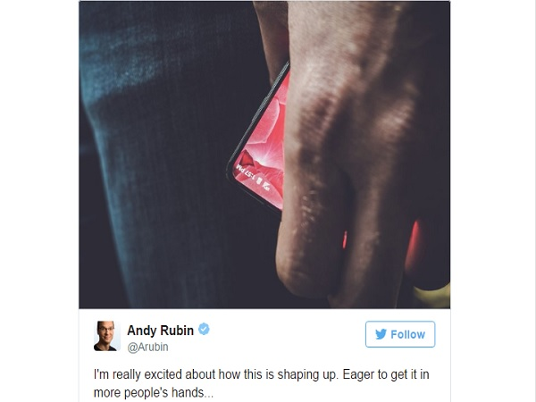 Android co-creator teases a new bezel less smartphone on Twitter