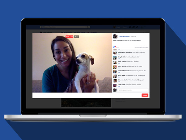 Facebook Live streaming is now available on computers