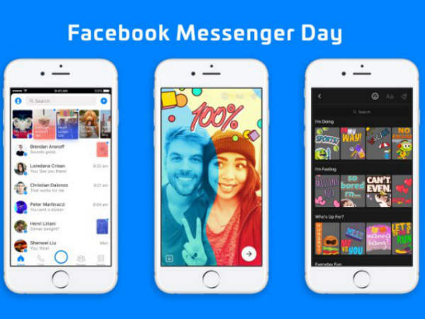 Facebook Messenger Day is a Snapchat Stories rip off