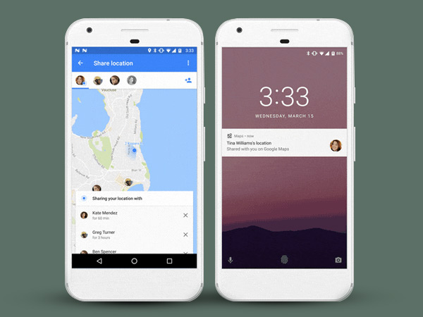 Google Maps lets you  share your trips and real-time locations