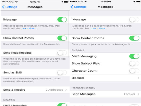How to disable iMessages and go back to SMS on Apple iPhones