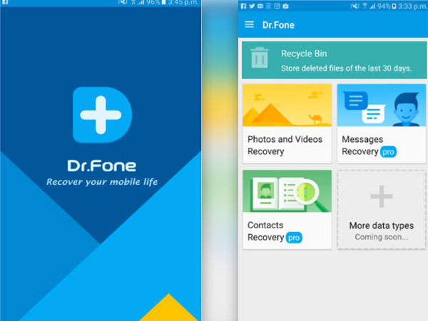 How to recover lost photos on your android smartphone with Dr. Fone application