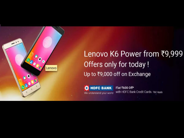 Lenovo K6 Power open sale in Flipkart; Hurry limited time and offers