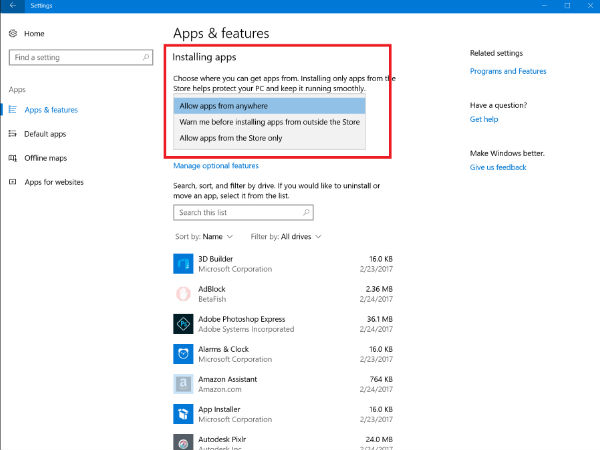 Windows 10 Starts Blocking Installation Of Win32 Apps