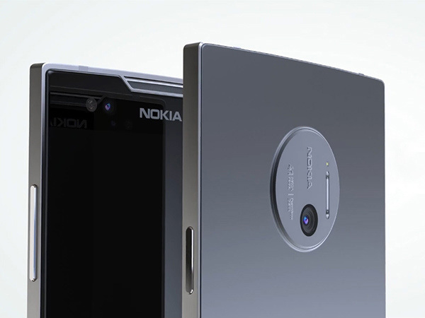 Nokia 9 design sketch tips at Carl Zeiss dual lens camera