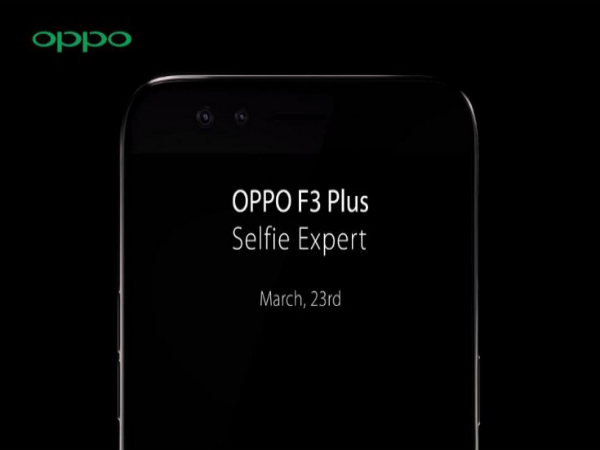 Oppo F3 Plus dual front camera setup with wide-angle lens tipped by video