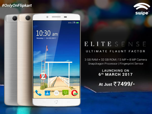 Swipe Elite Sense with 4G VoLTE goes on sale for Rs. 7,499