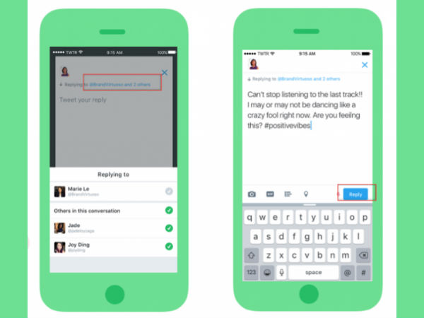Twitter: Eases 140-character limit in your replies
