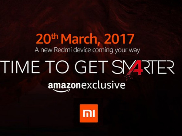 Xiaomi Redmi 4 launching on March 20 will be exclusive to Amazon