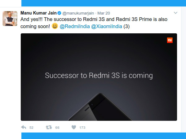 Xiaomi to launch Redmi 3S and Redmi 3S Prime successors in India soon