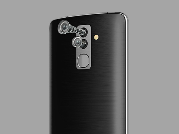 Dual-cameras at front and rear