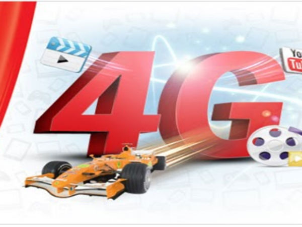 Vodafone offers 4GB data on 4G upgrade