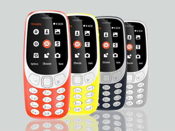 Nokia 3310 (2017) in four color options