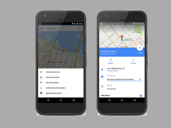 Google Maps now tells you where you parked