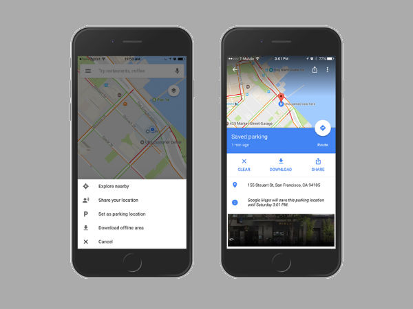 Google Maps Now Remembers Where You've Parked