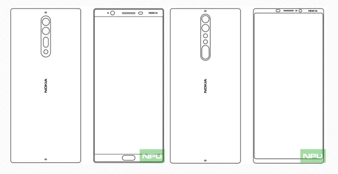 Alleged Nokia 8 or Nokia 9 sketches leak showing bezel-less design