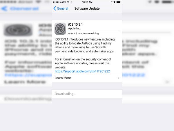Apple rolls out iOS 10.3.1 with bug fixes and security patches