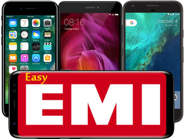 Latest smartphones at Easy EMI and Installment options