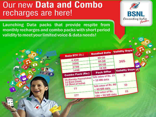 BSNL launches new Combo packs - Gizbot News