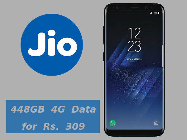 Buy Samsung Galaxy S8/S8+ and get 448GB Jio data for Rs. 309