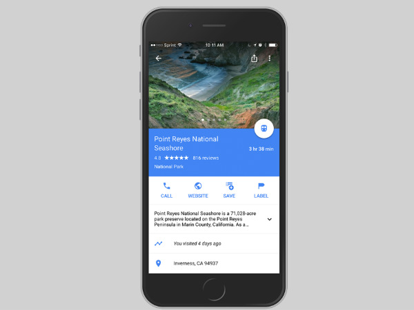 Google adds new timeline feature in Maps for iOS devices