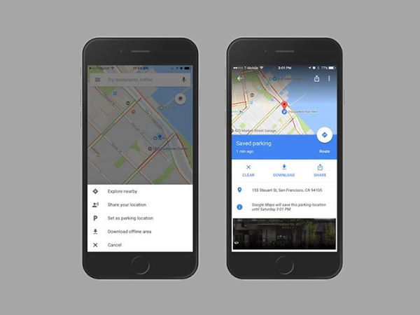 How to use Google Map to find your parked car
