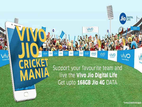 Jio to give 168GB data to Vivo smartphone users