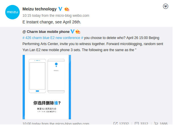 Meizu E2 to launch in a couple of weeks