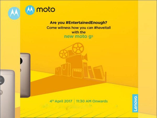 Moto G5 will be released on April 4 as an Amazon exclusive
