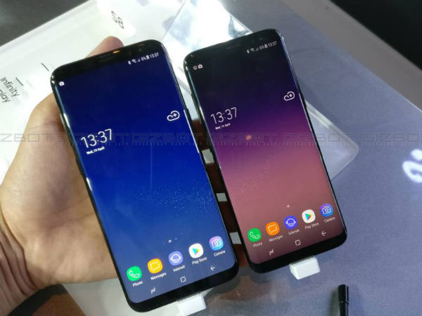 Samsung Galaxy S8, S8+ launched in India at Rs. 57,900 and Rs. 64,900