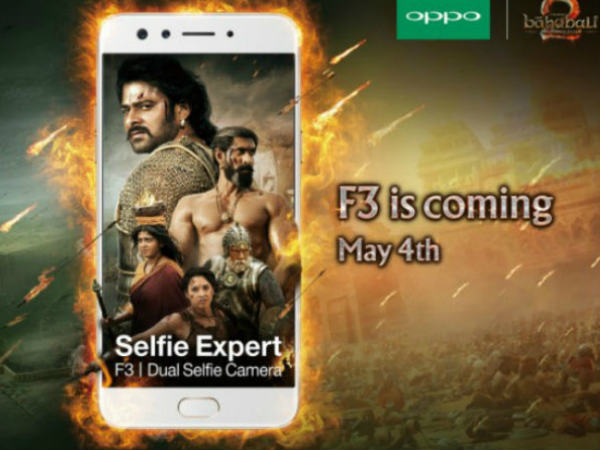 Oppo to launch F3 in India on May 4