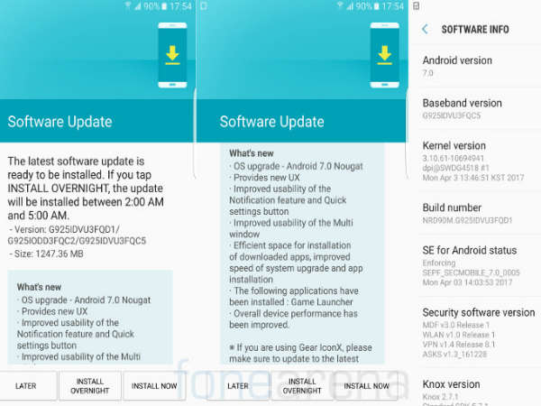 Nougat update starts rolling out to Galaxy S6/S6 Edge in India